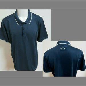 2XL Navy Blue Oakley MENS Polyester #A23 Golf Polo